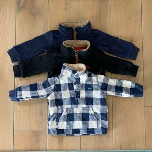 Bundle (3) half zip carters sweaters